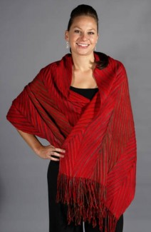 "Shawl - 30""x80"" - Lava Flows"